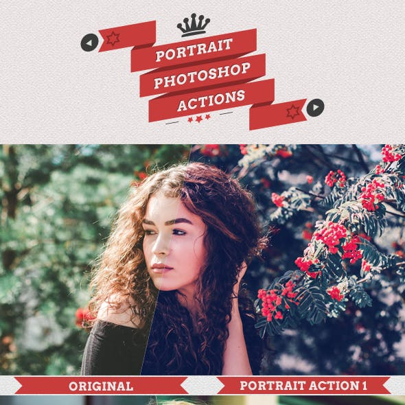 25 Portrait Photoshop Actions
