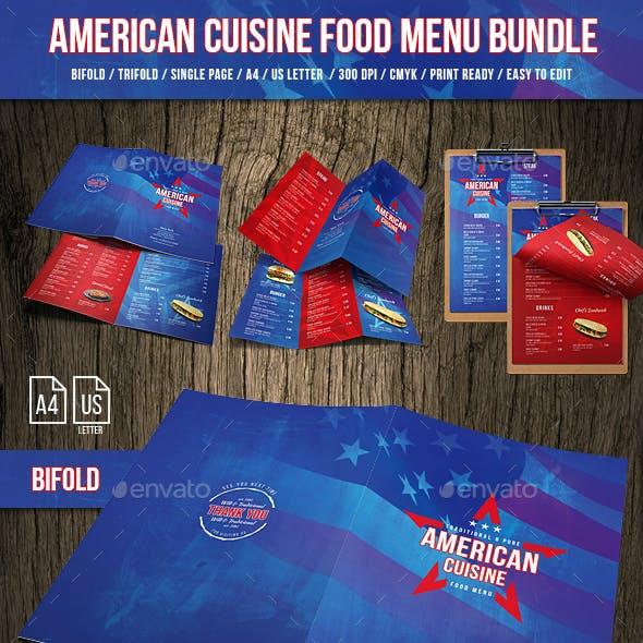 American Cuisine Food Menu Bundle