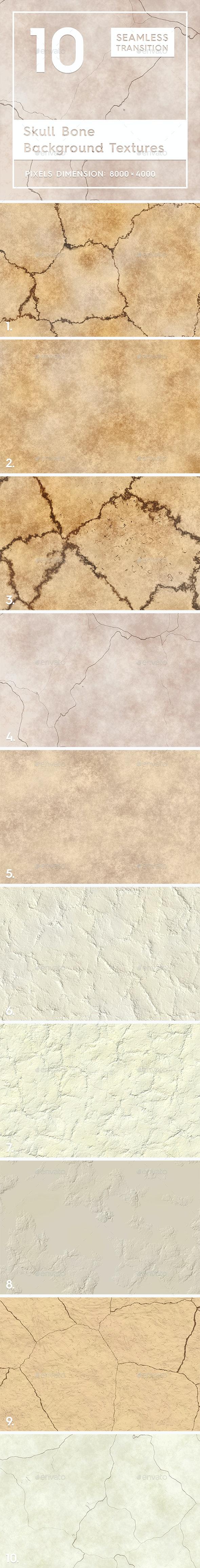 10 Skull Bone Background Textures - Nature Backgrounds