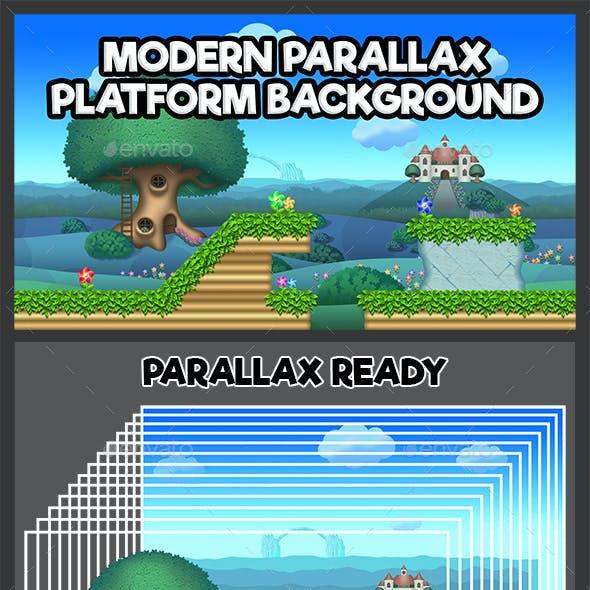 Modern Parallax Platform Background