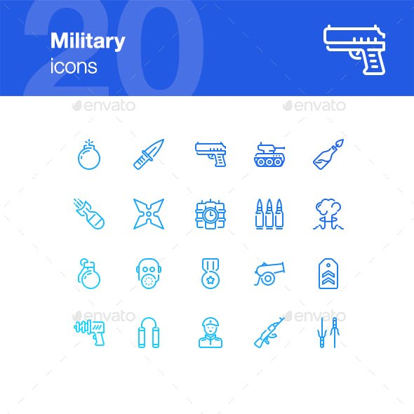 20 Military Icons
