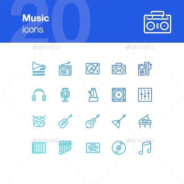 20 Music icons