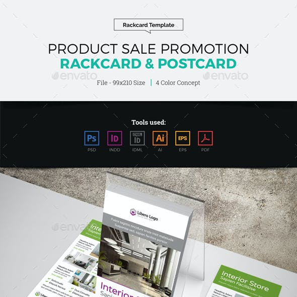 Product Sale Promotion Rackcard Postcard Design