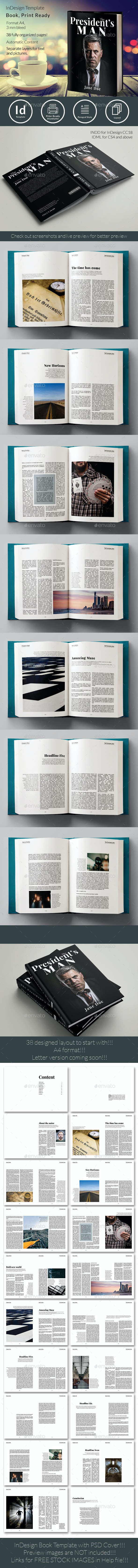 Book Template No 4 - Print Templates