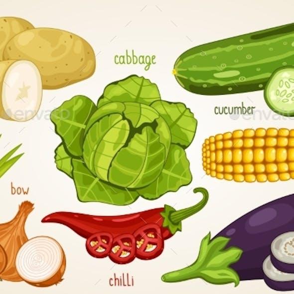 Vegetables Vector Mix