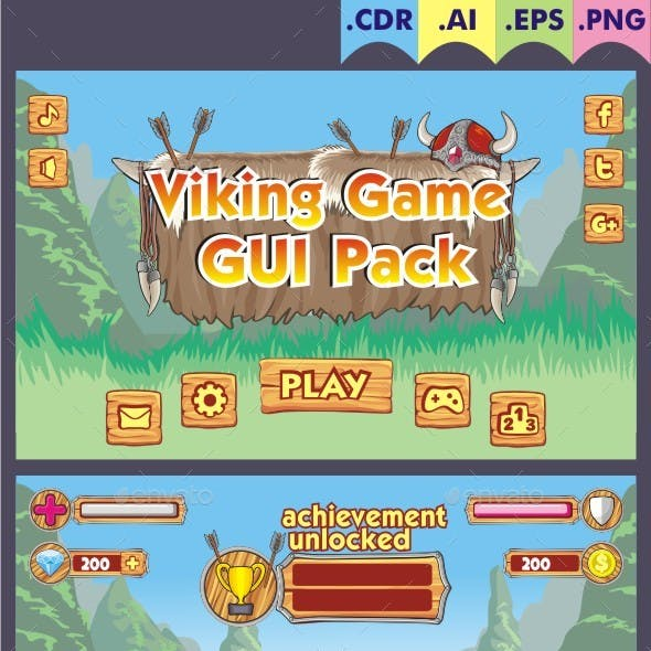 Viking Game Gui Pack
