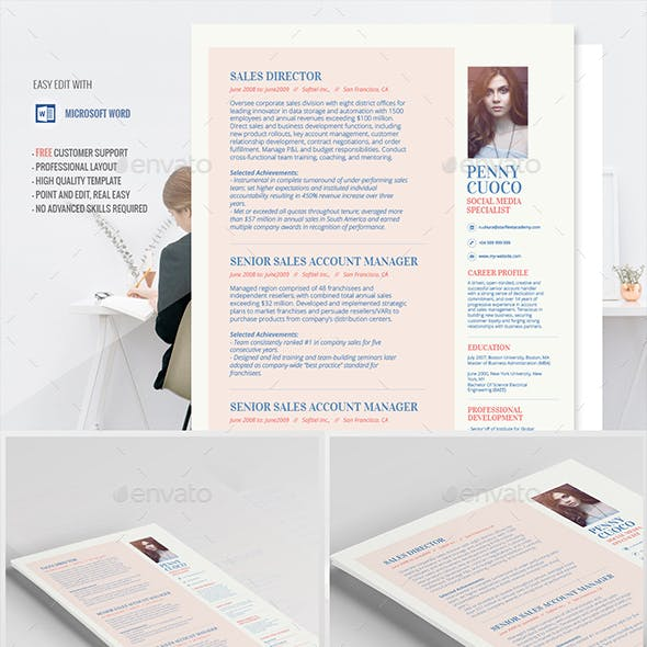 Resume Template Alhena
