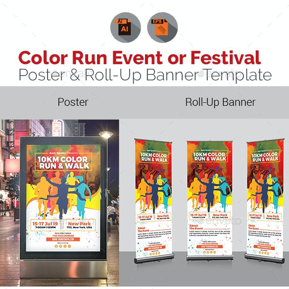 Color Run Event Signage Bundle