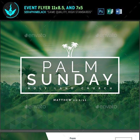 Palm Sunday Church Flyer template