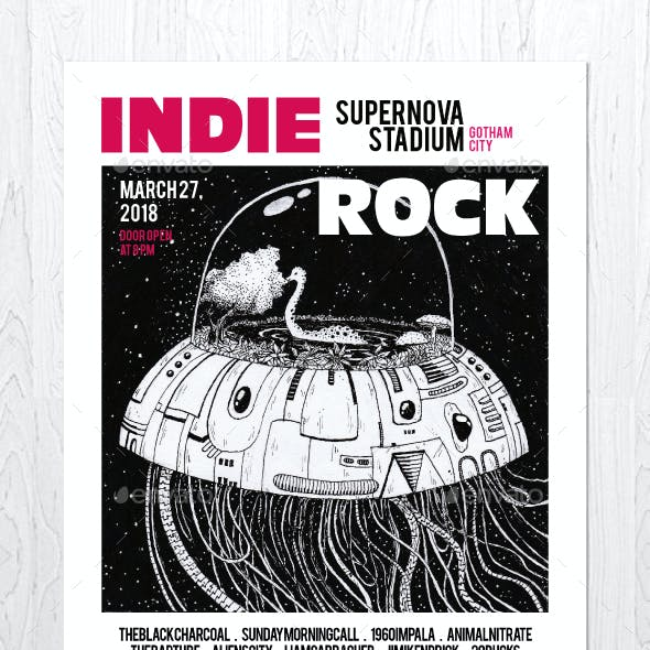 Indie Rock Vol. 11 Flyer