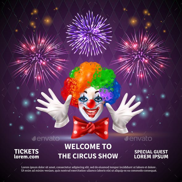 Fireworks Circus Show Background
