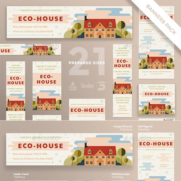 Eco House Banner Pack