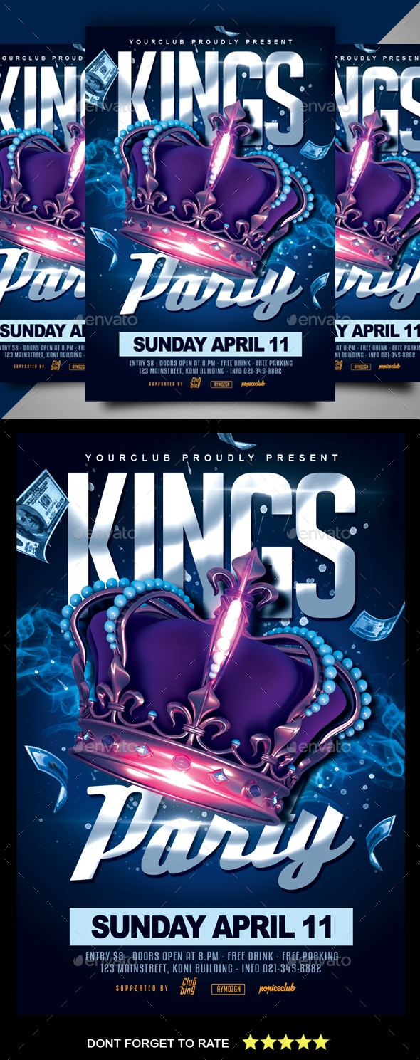 Kings Party Flyer - Clubs & Parties Events