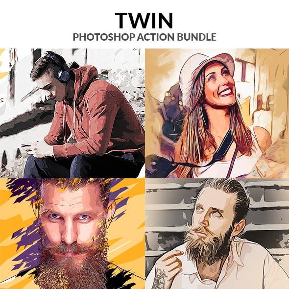 Twin Photoshop Action Bundle
