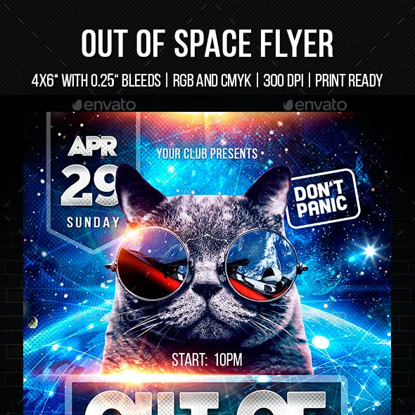 Out of Space Flyer Template