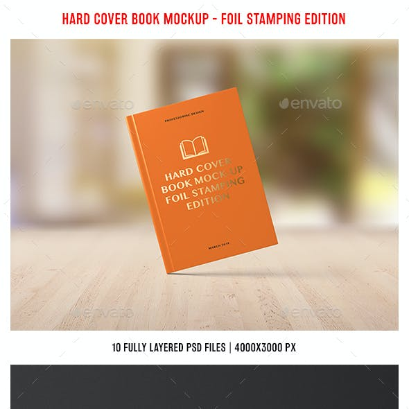 Hard Cover Book Mockup - Foil Stamping Edition