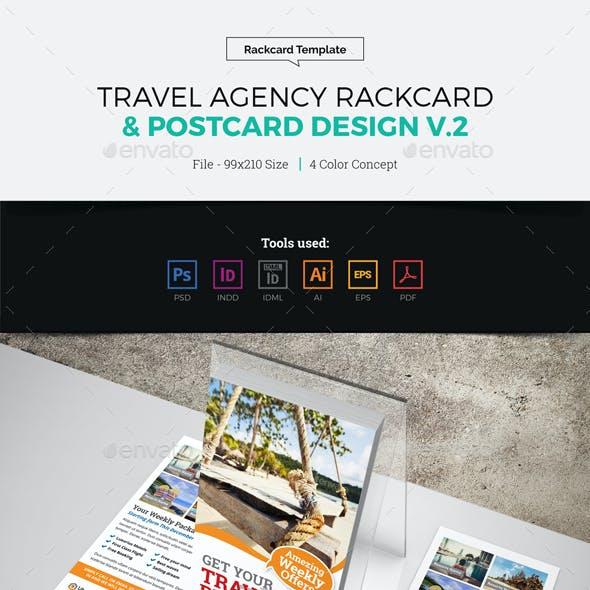Travel Postcard Rackcard DL Flyer Design v2
