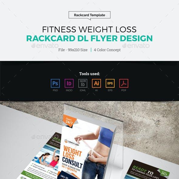 Fitness Weight Loss Rackcard DL Flyer Design