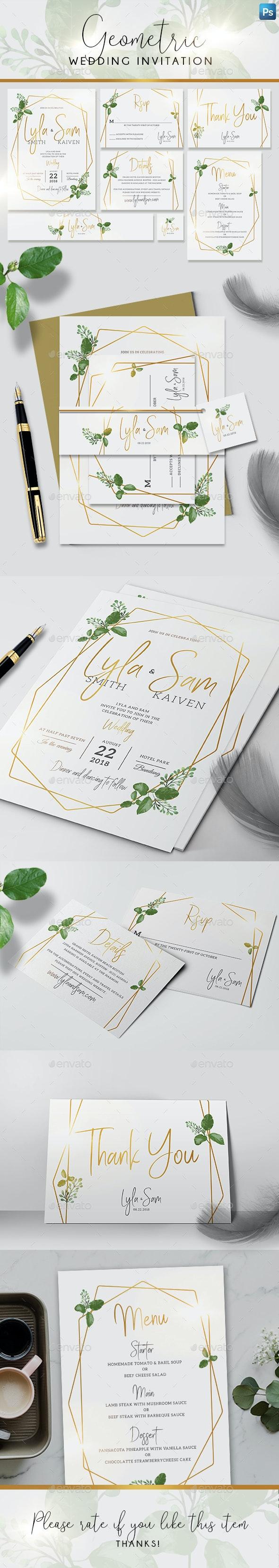Geometric Wedding Invitation - Weddings Cards & Invites