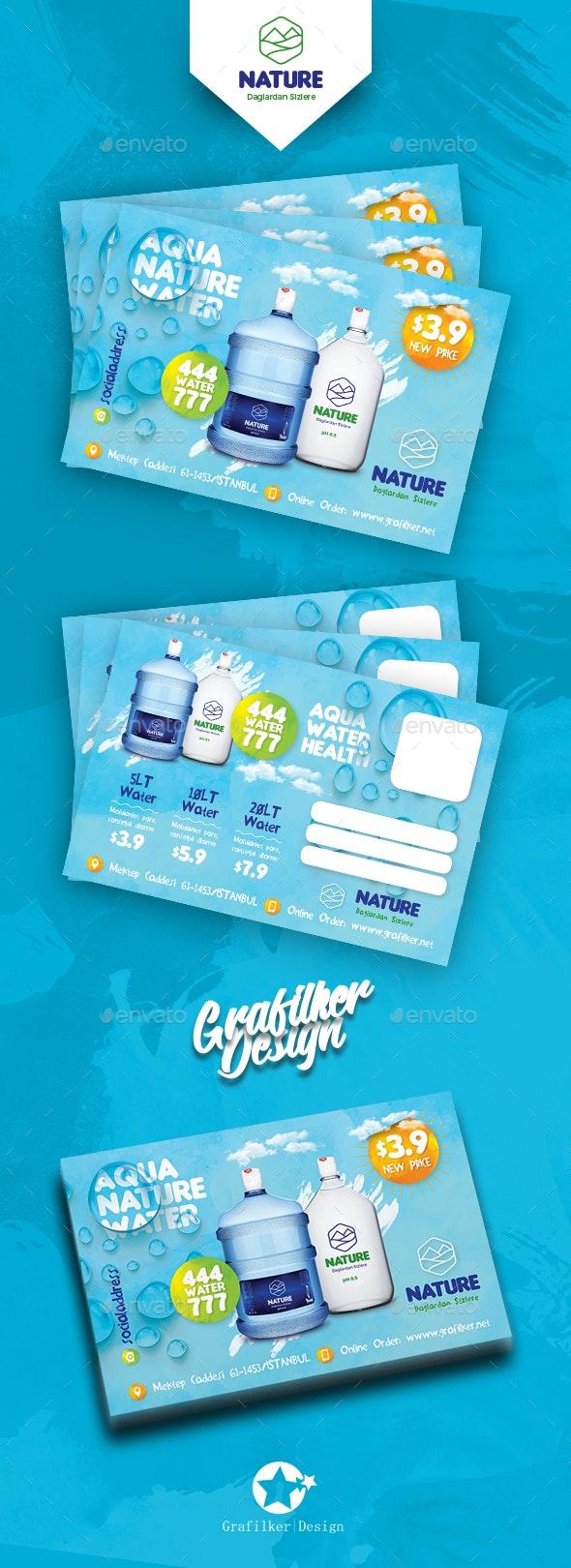 Water Service Postcard Templates - Cards & Invites Print Templates