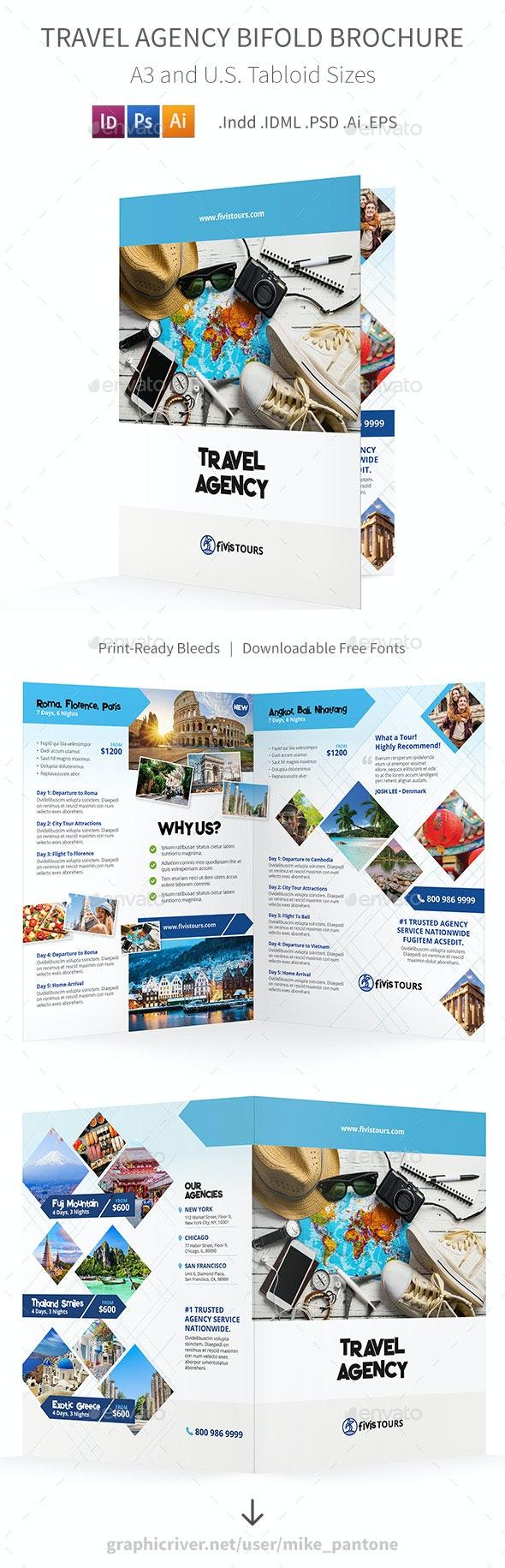 Travel Agency Bifold / Halffold Brochure 3 by Mike_pantone