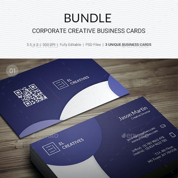 Bundle - Unique Business Cards 3 in 1 - 167