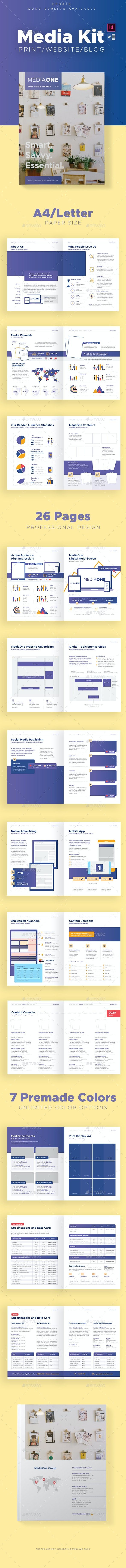 Print and Digital Media Kit Template - Stationery Print Templates
