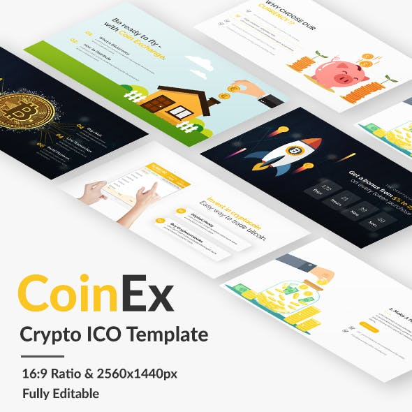 Coin Exchange and Crypto Currency Google Slide Template