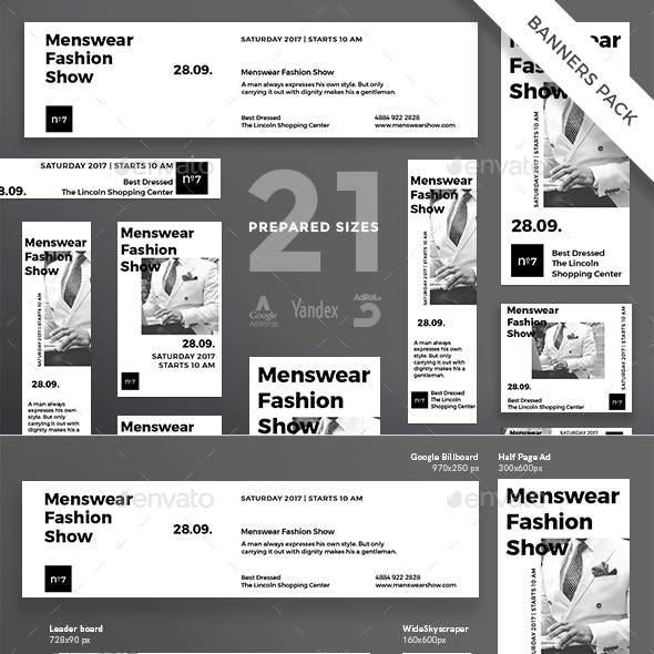 Menswear Show Banner Pack