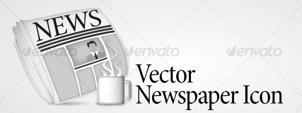 Vector Newspaper Icon - Concepts Business
