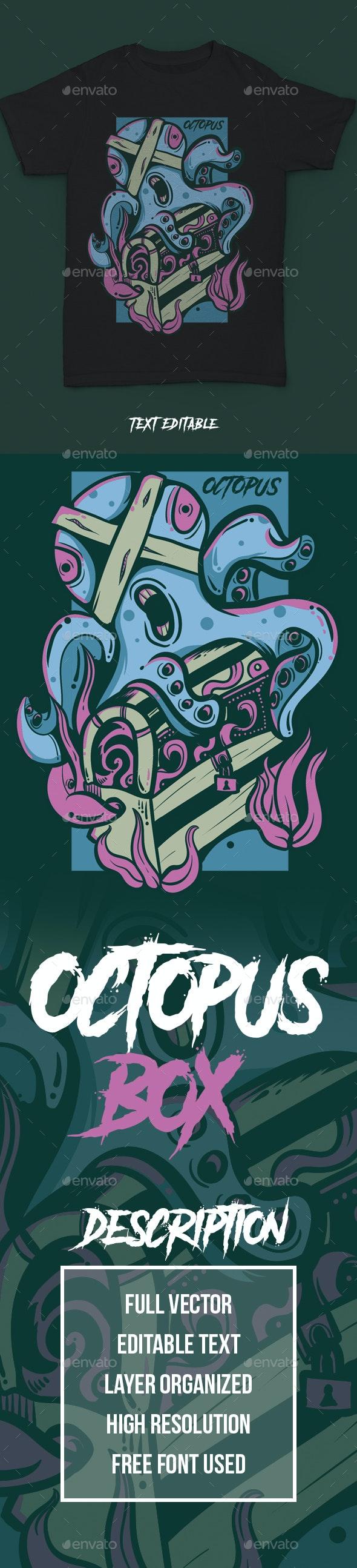 Octopus Treasure Tees V1 - Grunge Designs