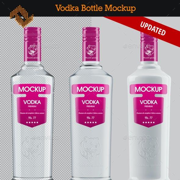 Vodka Bottle Mockup Vol. 3