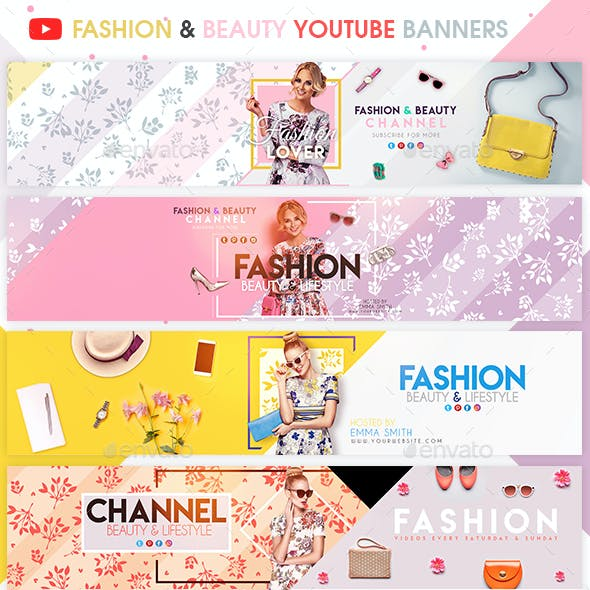 Diy Fashion Beauty Youtube: Beauty Banner Graphics, Designs & Templates From GraphicRiver