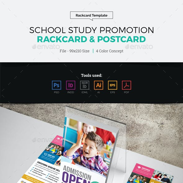 School Study Promotion Rackcard Postcard Design
