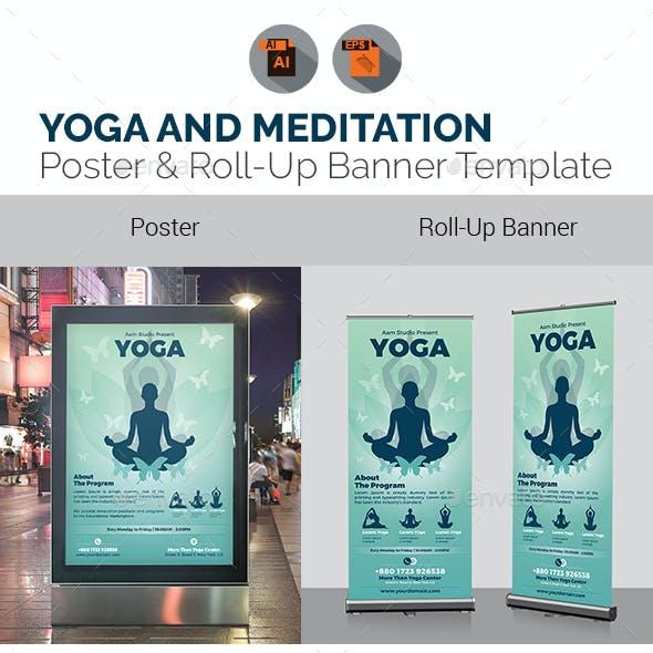 Yoga Meditation Signage Bundle