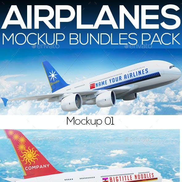 Airplane  Mockup - Bundle