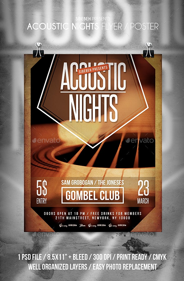 Acoustic Nights Flyer - Events Flyers
