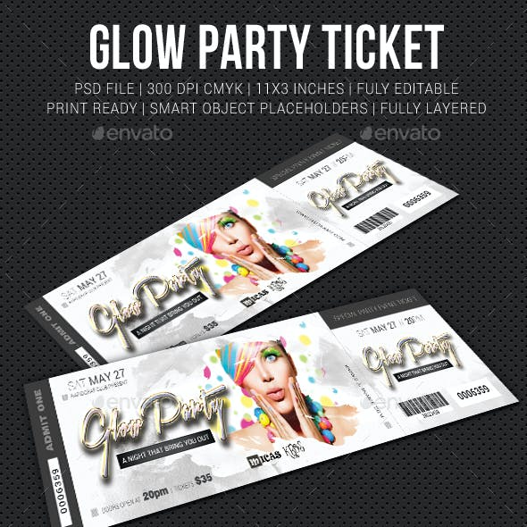 Glow Party Event Ticket