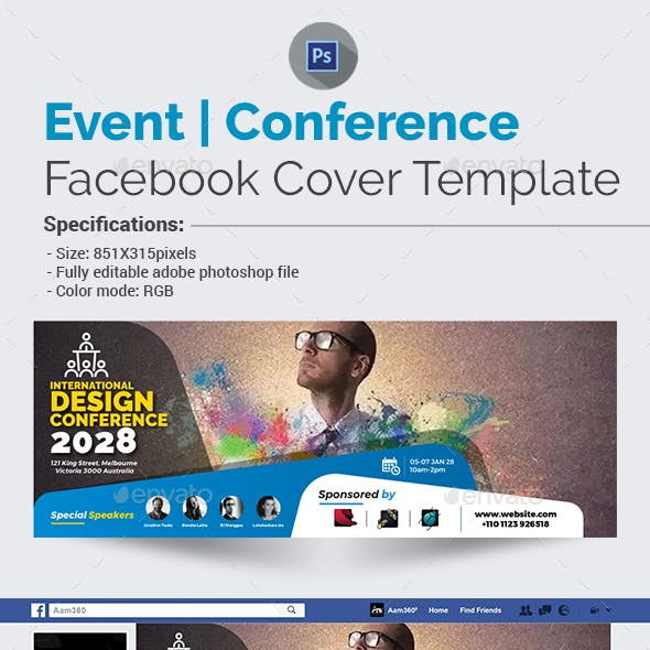 Event/Conference Facebook Cover Template