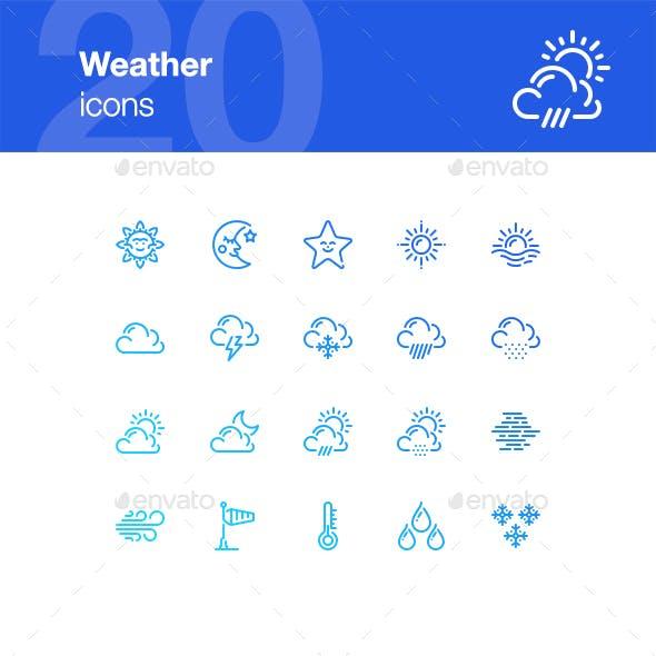 20 Weather Icons
