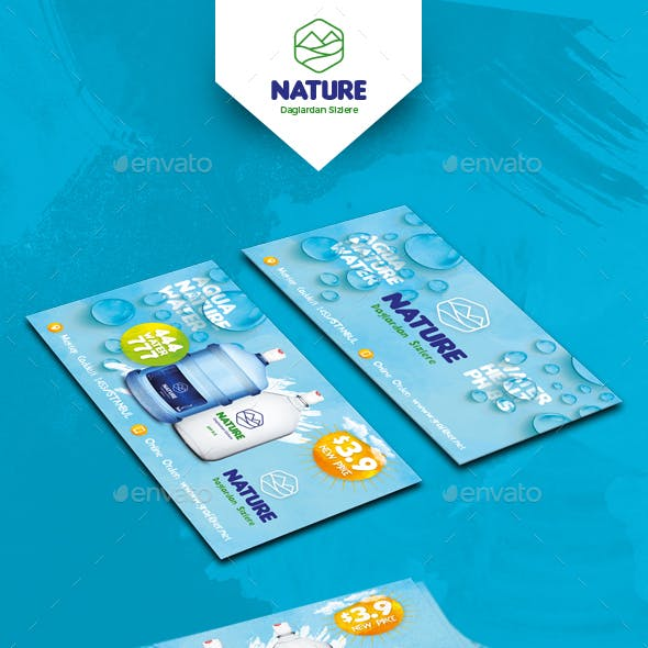 Water Service Business Card Templates