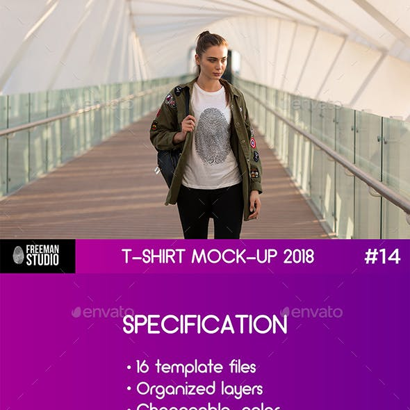 T-Shirt Mock-Up 2018 #14
