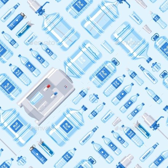 Water Bottle Vector Water Drink Liquid Aqua