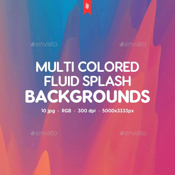 Multi-colored Dynamic Fluid Splash Backgrounds