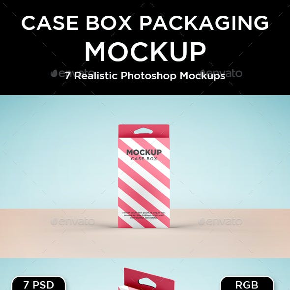 Case Box Packaging Mockup