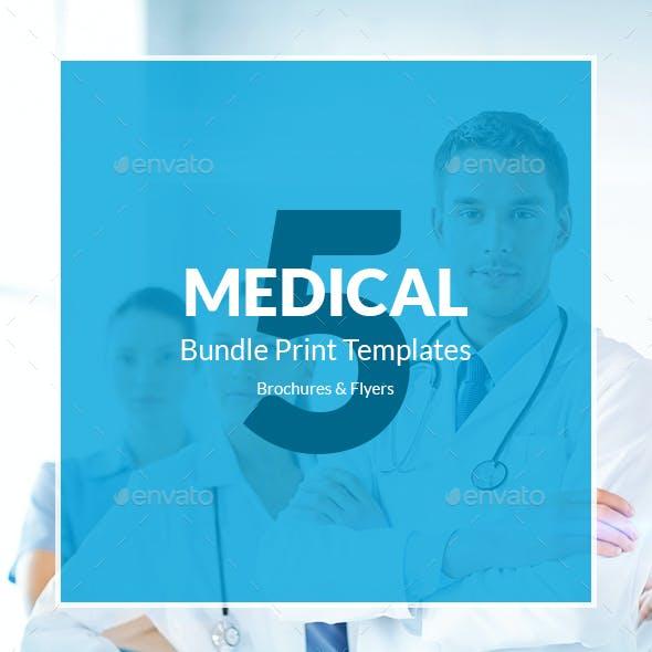 Medical – Brochures Bundle Print Templates 5 in 1
