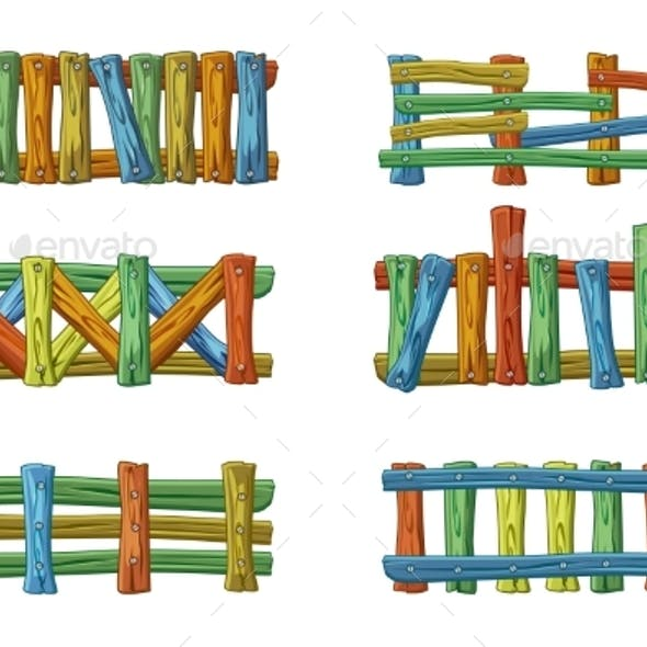 Different Types and Colors of Wooden Fence