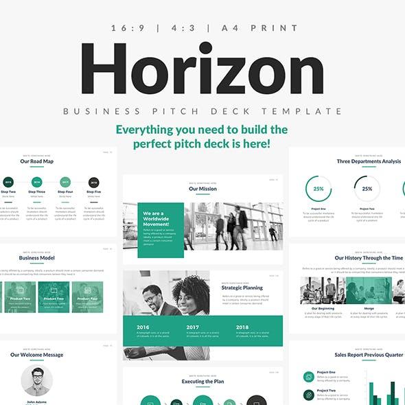 Horizon Business Pitch Deck Google Slides Template