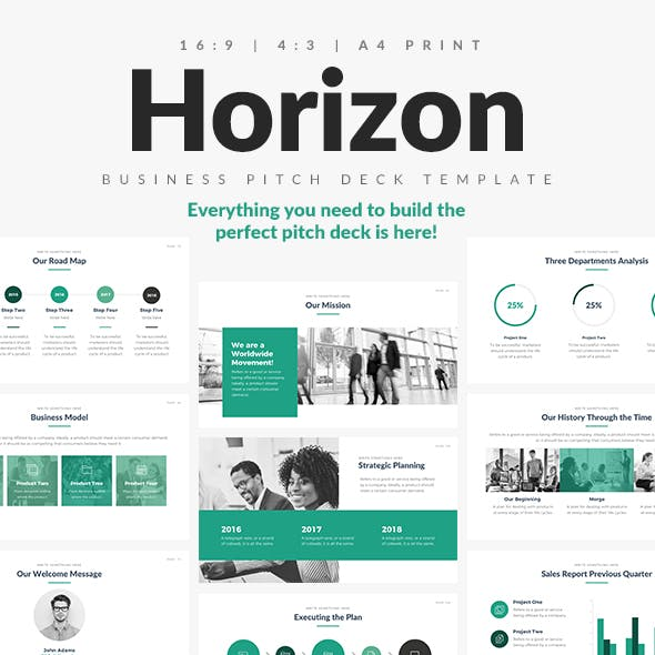 Horizon Business Pitch Deck Keynote Template