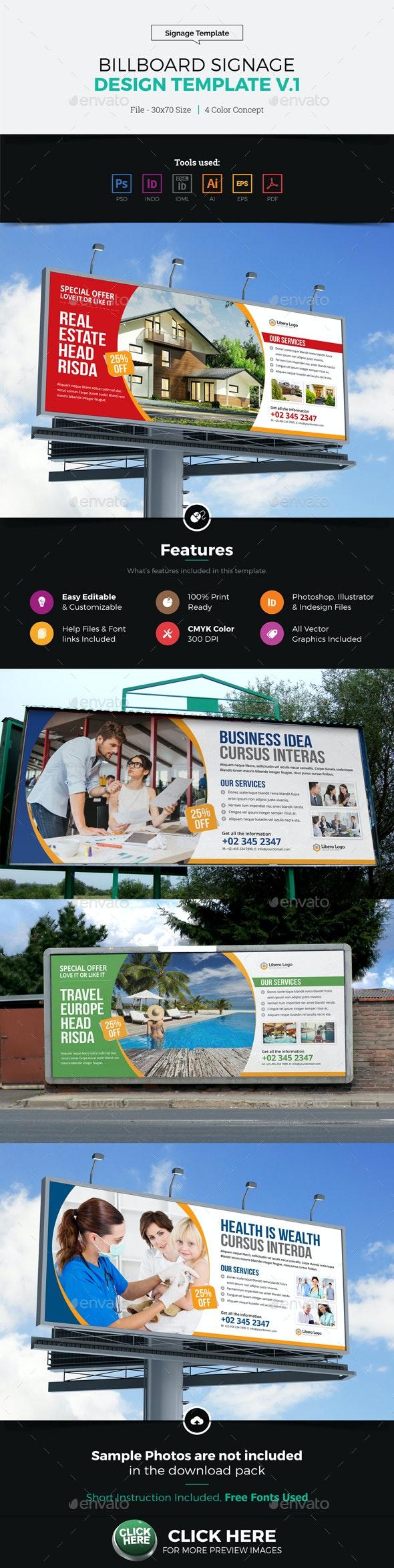 Billboard Signage Design v1 - Signage Print Templates